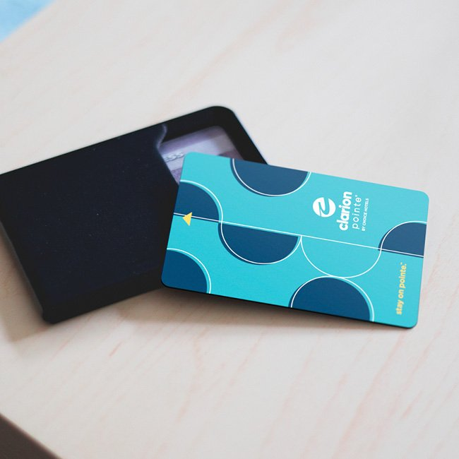 Choice Hotels Clarion Pointe Branding Positioning Traditional keycard
