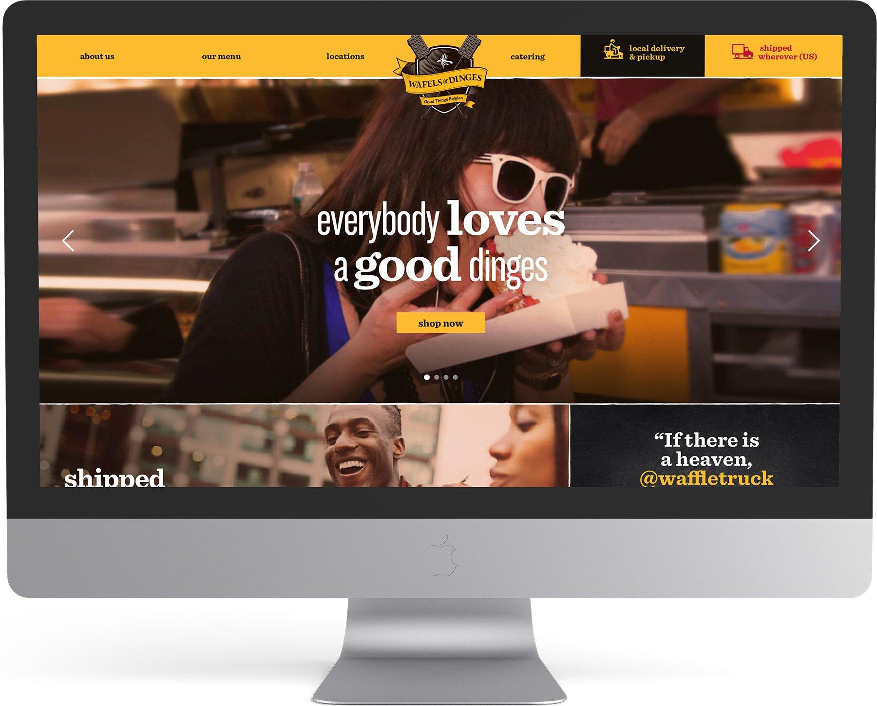 Wafels & Dinges Logo Franchise Sales Branding Positioning Brand Strategy Package Design Menu Design