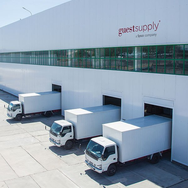 Guest Supply Logo Full-Spectrum Solutions Branding and Positioning Truck Image