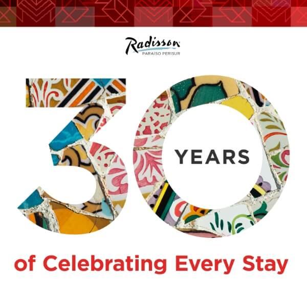 Radisson LATAM 30 anniversary celebration campaign visual